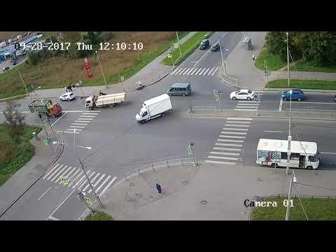 Авария в Красном Селе 28 09 17 Санкт-Петербург