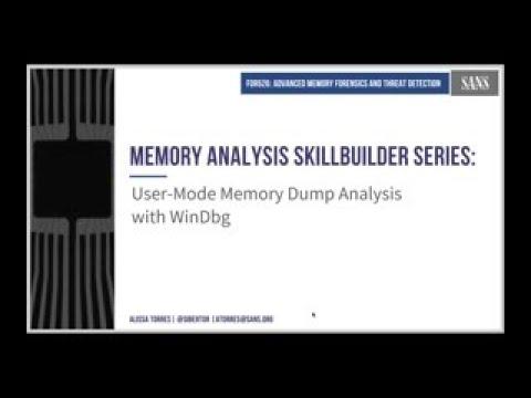 Analyzing User Mode Dumps With WinDbg