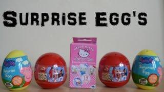 Hello Kitty Sanrio Surprise Disney High School Musical Gacha Ball Peppa Pig surprise egg Toy