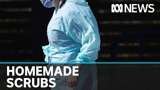 Coronavirus: Army of sewers band together to make hospital scrubs   ABC News