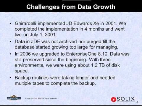How Ghirardelli Managed to reduce operational costs by archiving JD Edwards applications