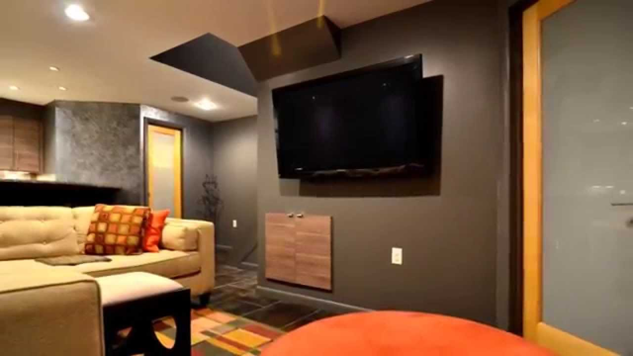 Contemporary- Modern Basement Remodeling In Bella Vista