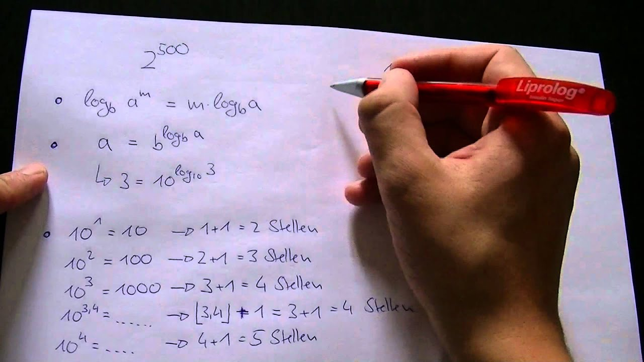 Dezimalstellen einer Zahl ohne Taschenrechner bestimmen [Old School ...