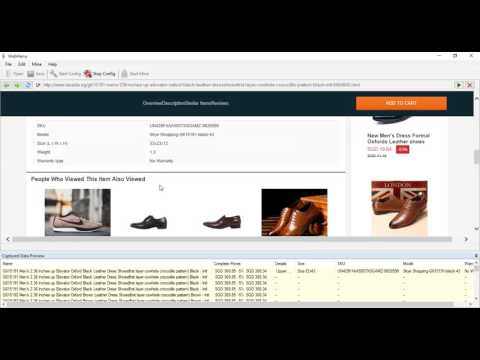 Extracting Product Info And Images From Lazada.sg Using Webharvy