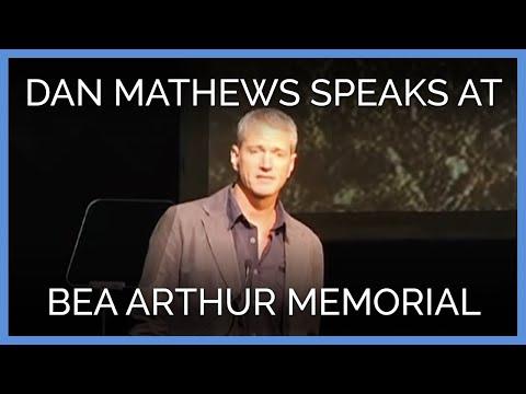Dan Mathews at Bea Arthur Memorial