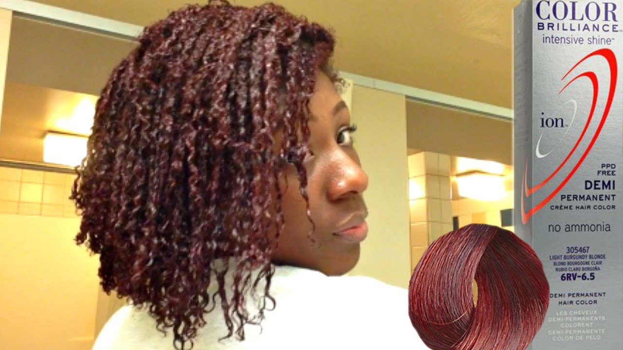 Dying My Natural Hair Burgundy Youtube