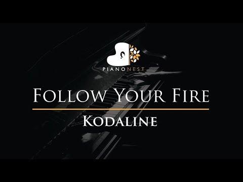 Kodaline - Follow Your Fire - Piano Karaoke / Sing Along / Cover with Lyrics