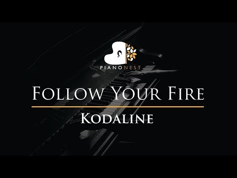 Kodaline - Follow Your Fire - Piano Karaoke / Sing Along / Cover with Lyrics