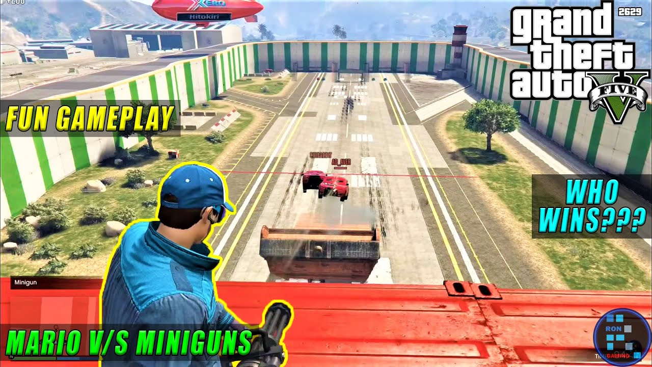 GTA V | Amazing Mario v/s Minigun With Full Of Fun
