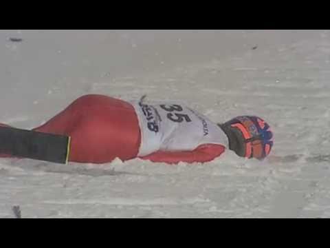 ski jump crash - Bjoern Einar Hagemoen - Lillehammer 2009