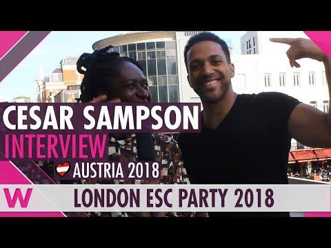 Cesár Sampson (Austria 2018) Interview | London Eurovision Party 2018