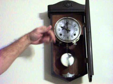 Antique Japanese Wall Clock Youtube