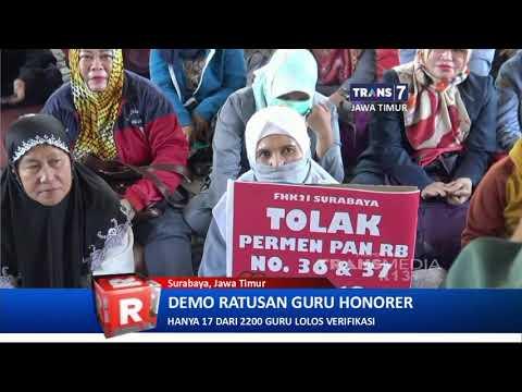 Tuntut Cabut Permenpan RB No 36 & 37 , 2018, Ratusan Guru Honorer Geruduk DPRD Surabaya