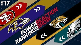 Power Rankings Week 17 Reaction Show: Who Are the AFC & NFC Super Bowl Favorites? | NFL Network