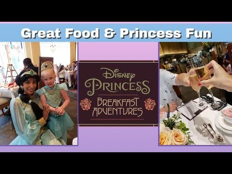 Eating All The Food And Meeting All The Princesses | Disney Princess Breakfast Adventure