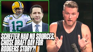 Pat McAfee Reacts To Adam Schefter's Real Story Behind Rodgers/Packers Story