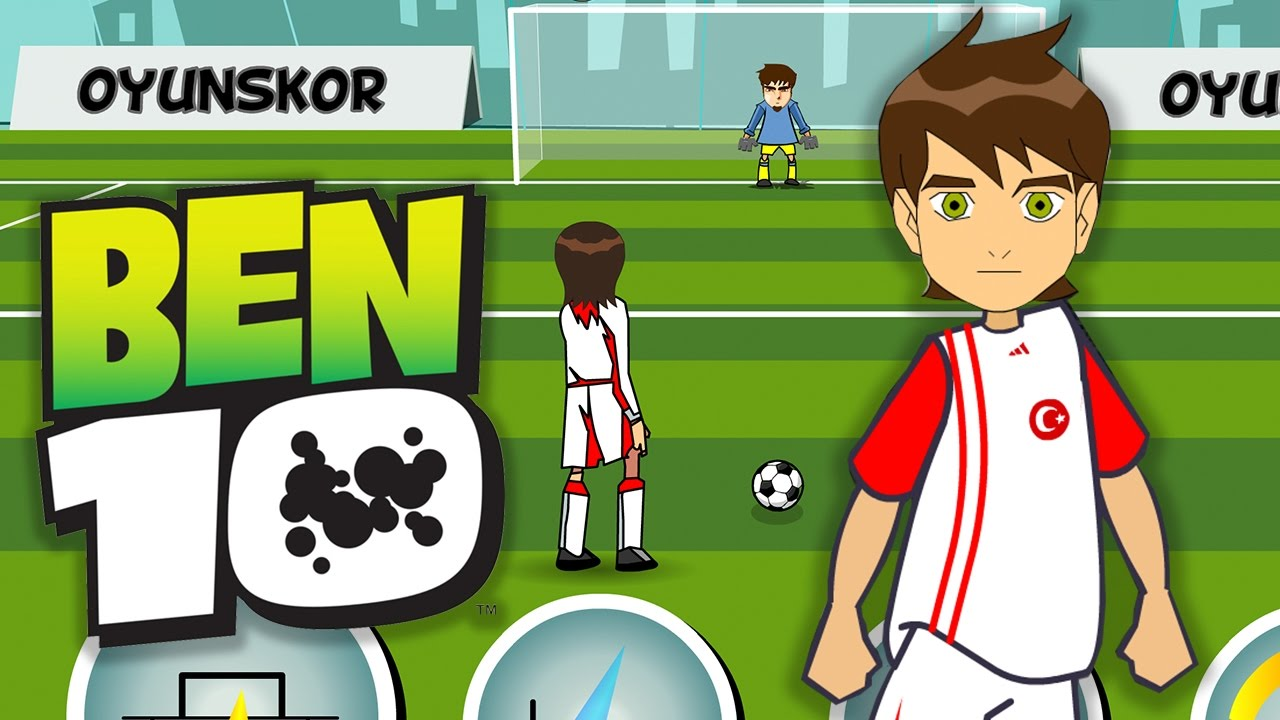 ben vs bakugan soccer game for kids juego de futbol para nios