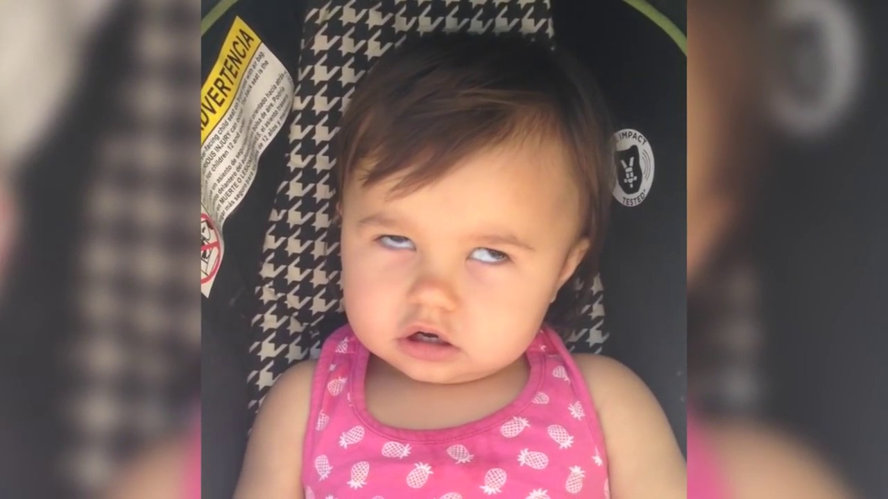 aceaf67ab Cute Baby Girl Makes Funny Faces and Then Starts Laughing