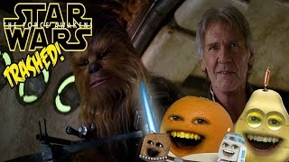 Annoying Orange - STAR WARS: THE FORCE AWAKENS TRAILER Trashed 2!!
