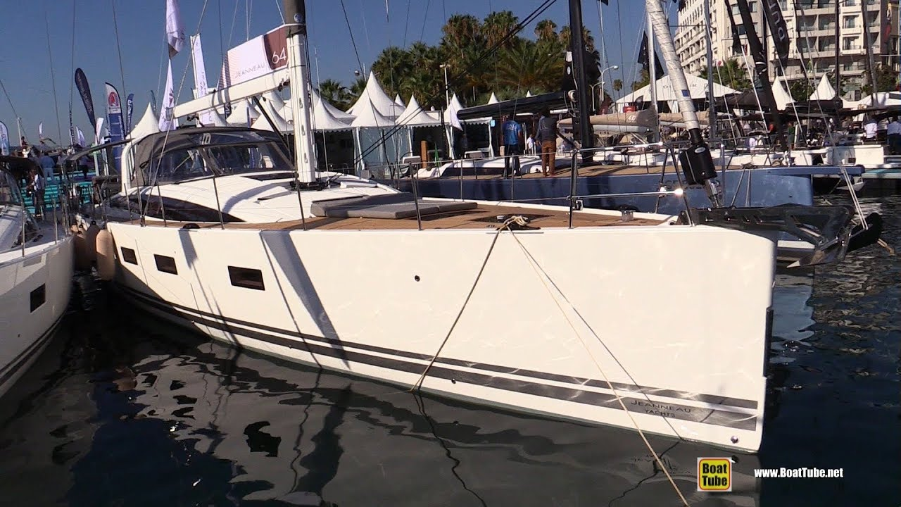 Salon Nautique Cannes 2019 Jeanneau 64 Sailing Yacht Deck And Interior Walkaround 2018 Cannes Yachting Festival
