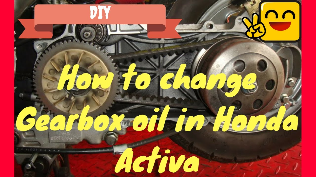 replace honda activa gear oilgearbox oil gearless scooter maintenance youtube