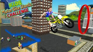 Kids MotorBike Roof Top Stunts Android FHD Gameplay