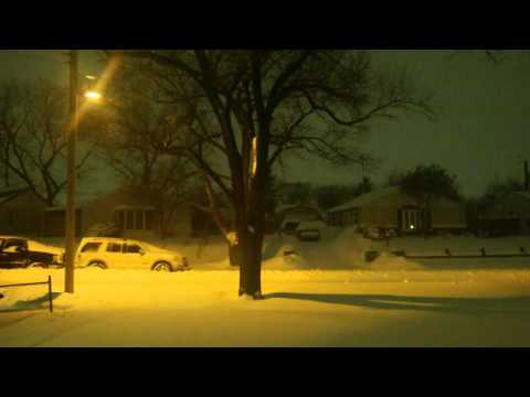 Glen Burnie, MD Blizzard Jan 2016 Timelapse