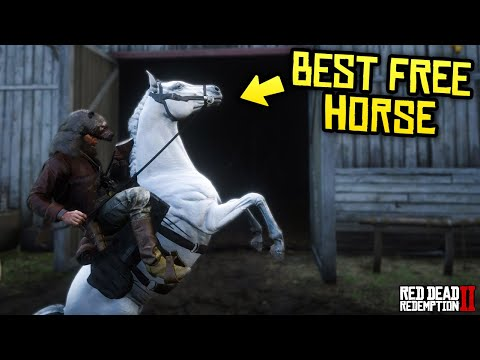 Red Dead Redemption 2 - The Best FREE Horse! How to Get & Where to Find (White Coat Arabian)