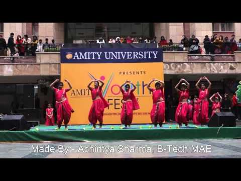 Amity University, Amity Youth Fest-2014 (Day-3) [Rang Raise-Cultural Dance]