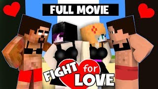 FULL MOVIE FUNNY LOVE STORY OF HEROBRINE (FIGHT FOR LOVE)  ALL SEASON - MONSTER SCHOOL