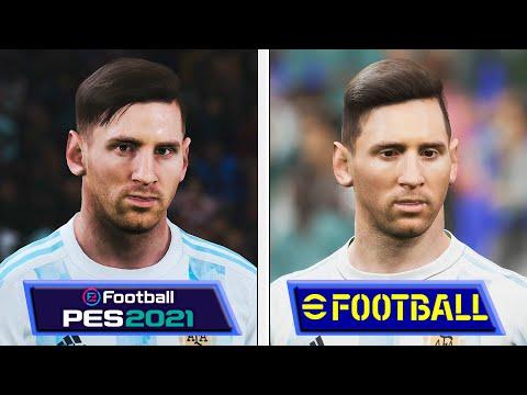 Сравнение графики в eFootball 2022 с PES 2021