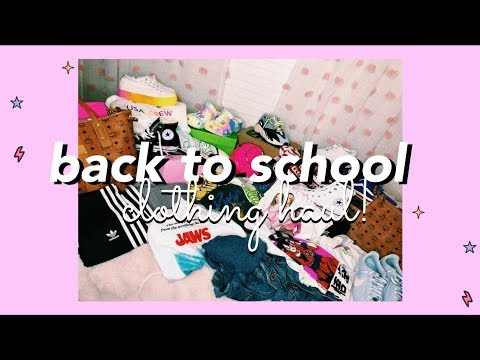 HUGE Back to School Try-On Clothing Haul! 2019