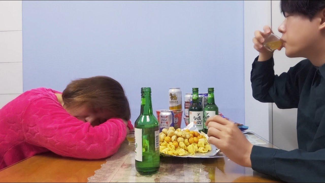 엄마하고 거하게 한잔 했습니다... (내가 술먹방을 안 하는 이유)
