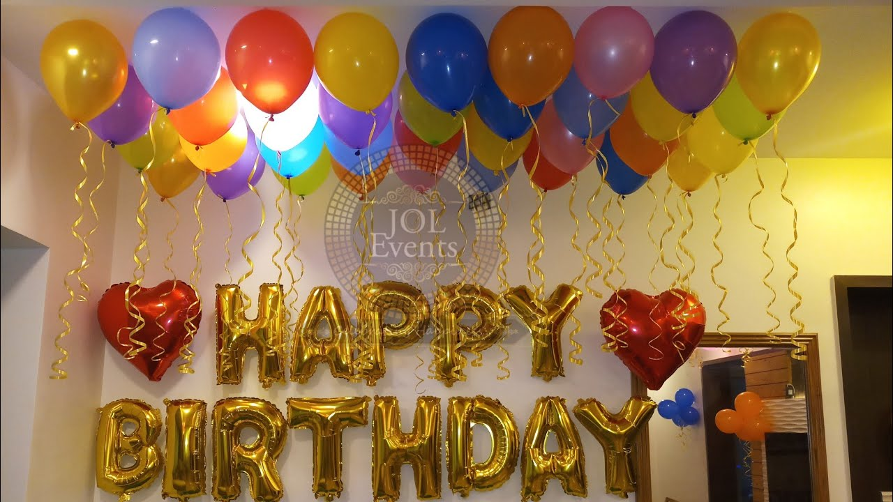 Simple Birthday Room Decoration Ideas For Wife S Birthday At Home In Lockdown Youtube