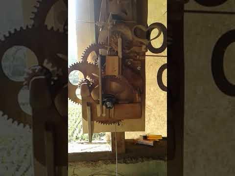 wooden gear clock escape.. failed.. diy