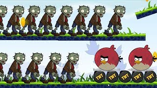 Angry Birds Fry Zombies - BURN ALL THE ZOMBIES BY FORCING TNT BOMB!