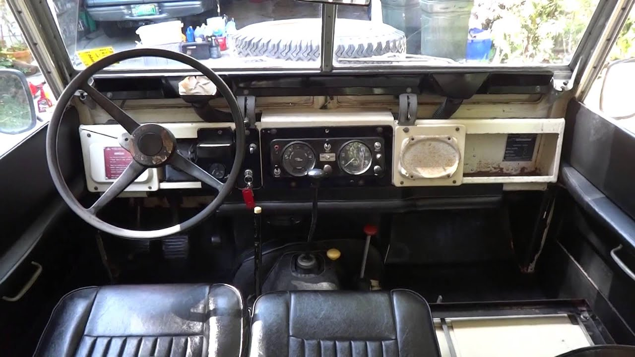 """1969 Land Rover 88"""" Series II A For Sale 386 451 4828 Interior"""