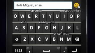 Escribe de forma inteligente con el teclado predictivo de BlackBerry 10