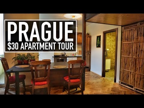 BEAUTIFUL $30 PRAGUE AIRBNB APARTMENT TOUR!! | Prague On A Budget Travel Guide