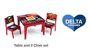 Delta Children's Deluxe Table & Chair Set with Storage Vignette