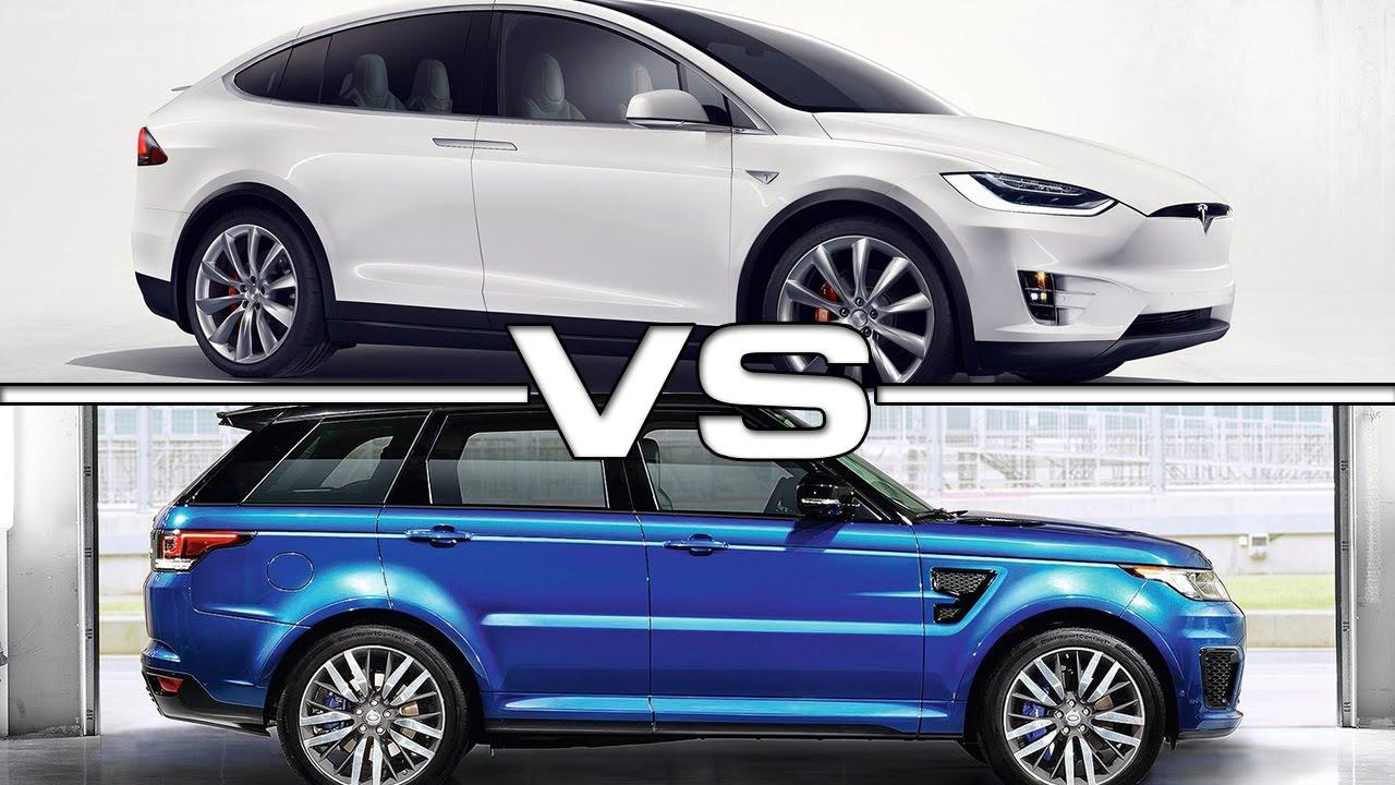 Range Rover Vs Land Rover >> Tesla Model X vs Range Rover Sport SVR - YouTube