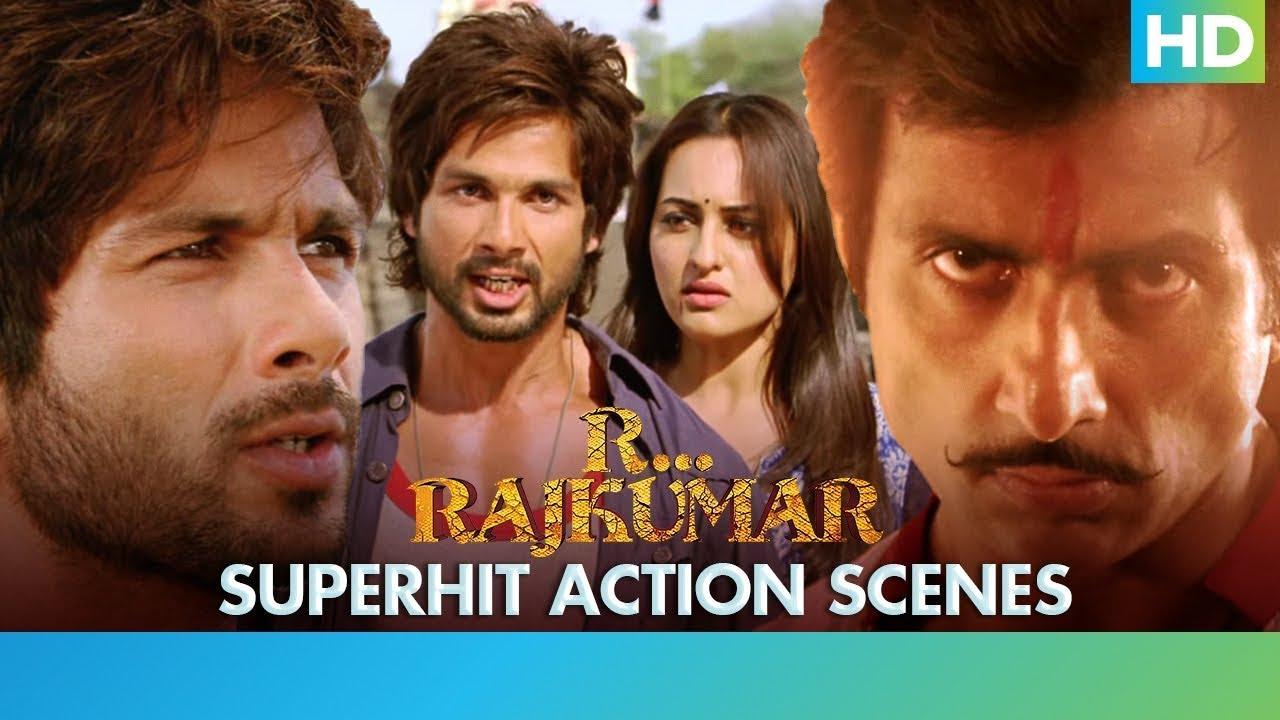 Download R... Rajkumar - Superhit Action Scenes - Shahid Kapoor, Sonakshi Sinha & Sonu Sood | Prabhu Deva