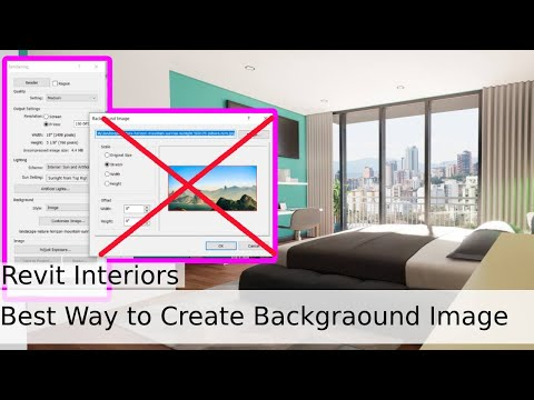 Revit Tricks | How to Set a Background Image for Interior Renderings in Revit