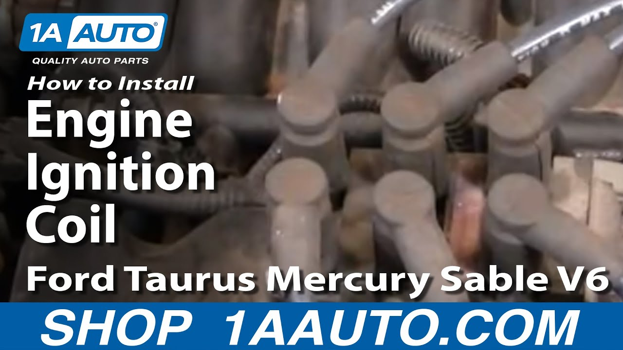 How to install replace engine ignition coil ford taurus mercury sable v6 01 04 1aauto com youtube