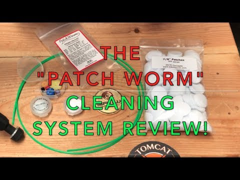 The Patch Worm barrel cleaning system.