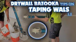 Drywall Bazooka Tips Taping in Walls