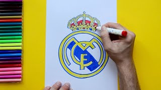 How to draw and color the Real Madrid Logo