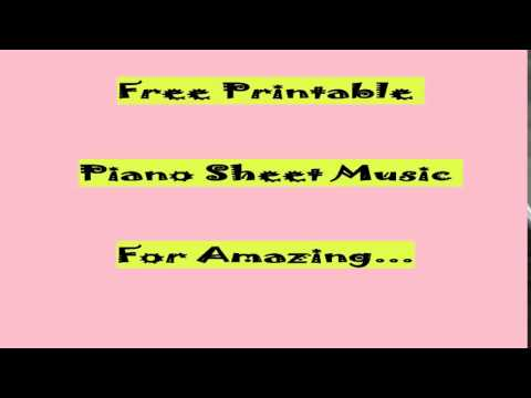 Free Printable Piano Sheet Music For Amazing Grace