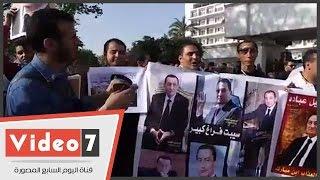 بالفيديو..مؤيدو مبارك للرئيس الأسبق فى ذكرى تحرير طابا: