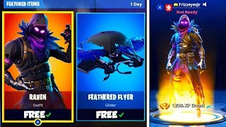 *NEW* RAVEN SKIN + FEATHERED GLIDER! - RAVEN SKIN GAMEPLAY! (Fortnite: Battle Royale)